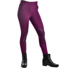 Ladies Silicone Gel Knee Patch Cotton Knit Breeches