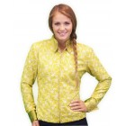 Lime Paisley Western Show Shirt