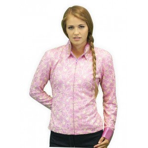Hot Pink Paisley Show Shirt