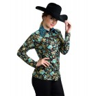 Gold Teal Flower Show Jacket