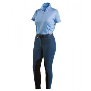 Denim Breech with Extended Knee Patch