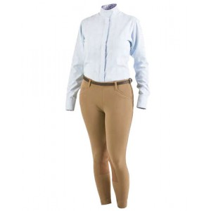Low Rise Microfiber Side Zip Breech