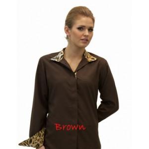 Fashionable Wrap Collar Shirt