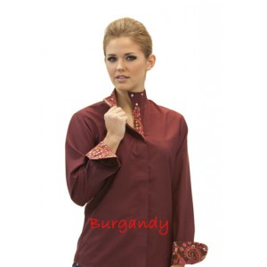 Fashionable Wrap Collar Shirt