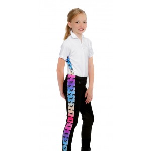 Children Low Rise Riding Tights w/Trim