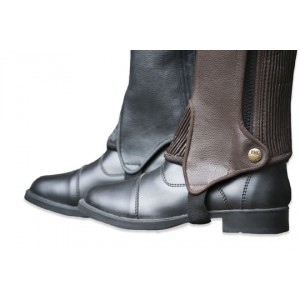 Deluxe Leather Half Chaps