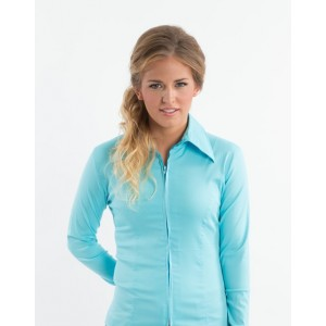 Zip Up Fitted Show Shirts