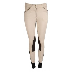 Euro Seat Contrast Piping Knee Patch Cotton Breech with Piping-RH722