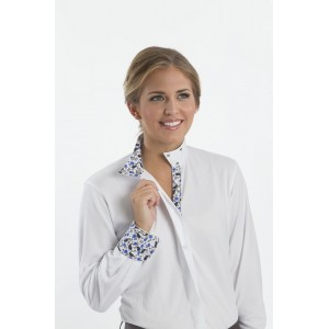 Coolmax Pin Dot Wrap Collar Shirt