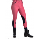 Ladies Contrast Piping Coral Navy Microfiber Breech